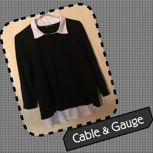 🆕Cable & Gauge Layered Sweater